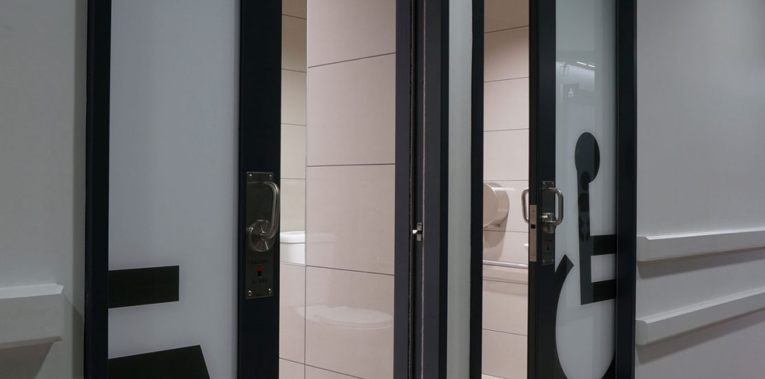 Accessibility washroom door Solutions