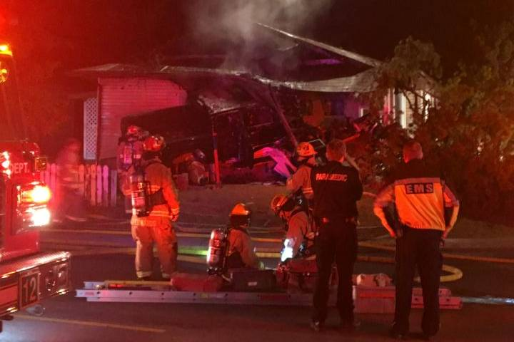 Arrest made after northeast Calgary home damaged in blaze, pickup truck driven into house