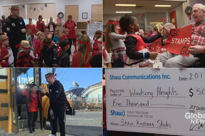 'Kindness Ninjas' in Airdrie kindergarten spread joy with guest Bo Levi Mitchell
