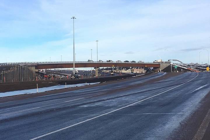 Red Deer interchange that accesses Gasoline Alley opens