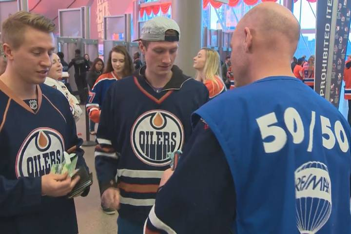 $68K Edmonton Oilers 50/50 pot carried over to Saturday's game