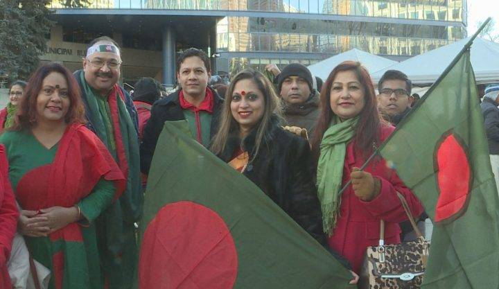 Bangladeshi community in Calgary celebrates Victory Day with flag-raising