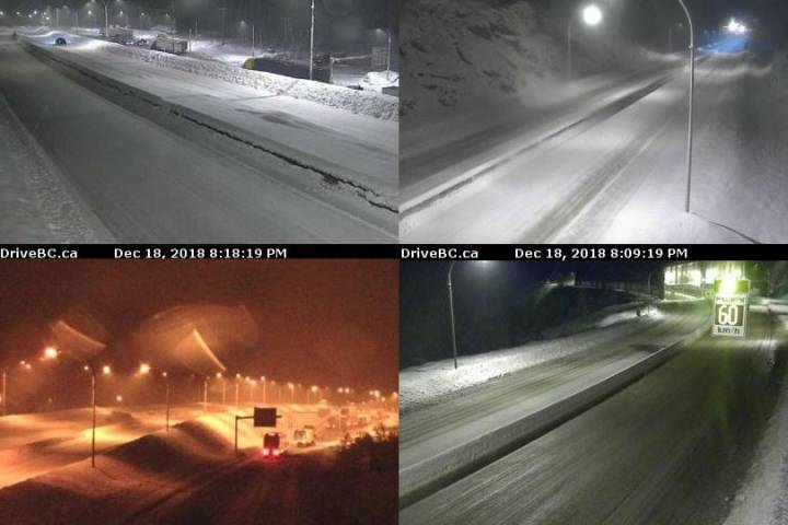 Coquihalla closed Hope to Merritt northbound due to accidents