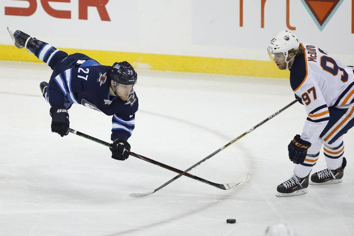 Edmonton Oilers falter in third and lose in OT to Winnipeg Jets