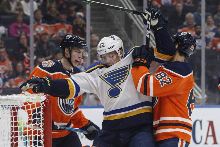 Edmonton Oilers give up winning goal after controversial video review decision in game against Blues