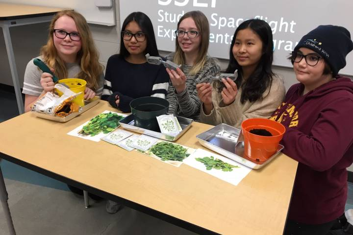 Edmonton students win right to have experiment launched on International Space Station