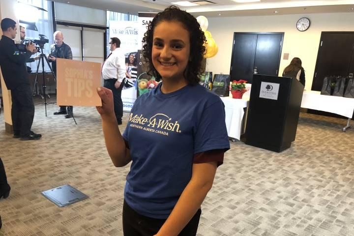 Edmonton teen granted wish to 'pay it forward' through Make a Wish program