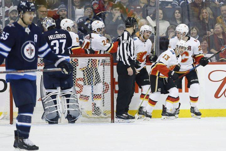 Flames' Gaudreau gets hat trick as Calgary wins 4-1 over Winnipeg Jets
