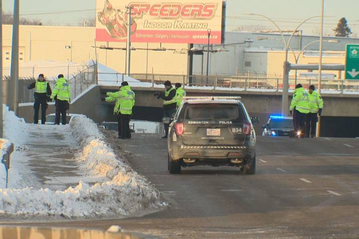 Serious collision involving pedestrian closes portion of Yellowhead Trail