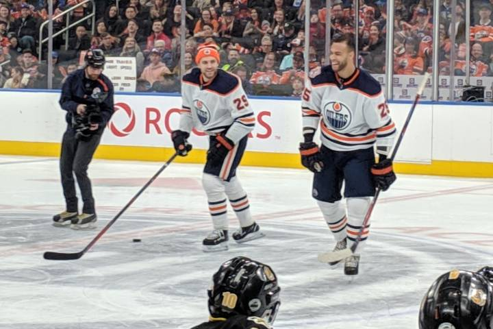 Darnell Nurse rips hardest shot at Edmonton Oilers' skills competition
