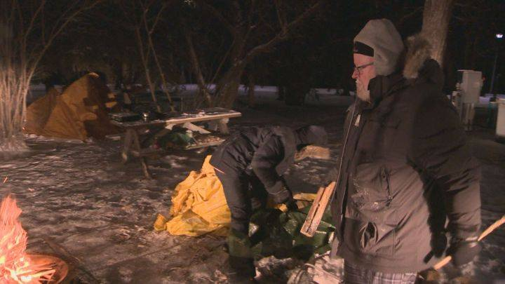 Edmonton's 'freezing father' raises $35K for children's hospital by camping in the cold