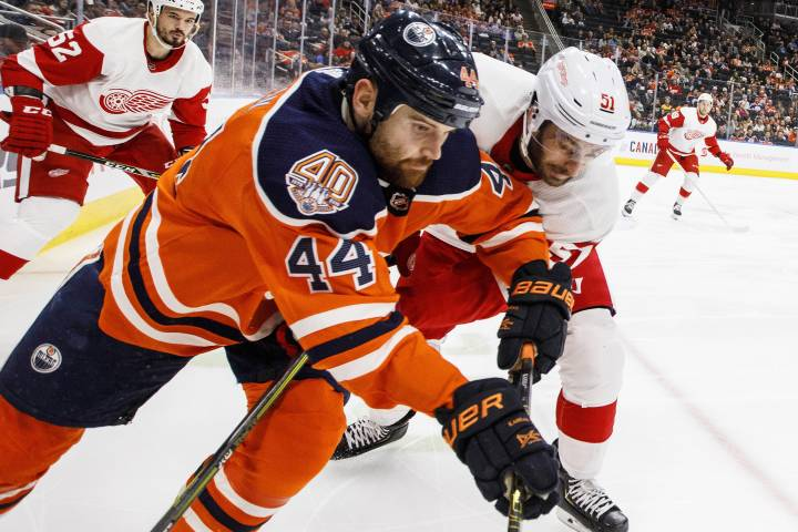 Lifeless start dooms Edmonton Oilers in 3-2 loss to Red Wings