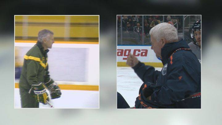 Oilers coach Ken Hitchcock explains connection with legendary hockey coach Clare Drake