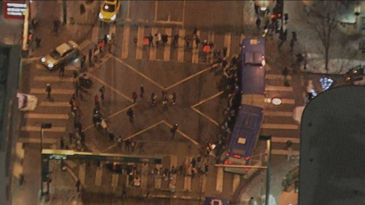 Protesters block downtown Edmonton intersection to support B.C. First Nation's land rights
