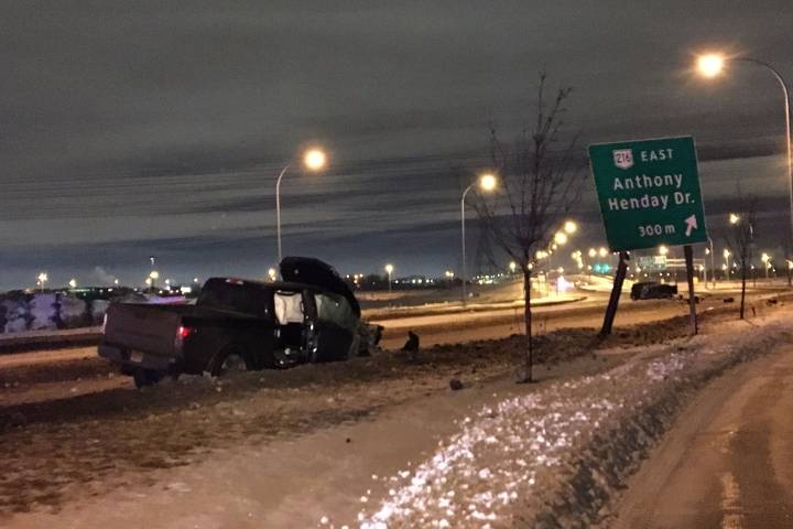 Serious crash shuts down part of 91 Street near Anthony Henday Drive