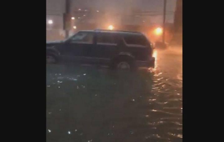 Downtown Edmonton's 109 Street the scene of major flooding Friday night