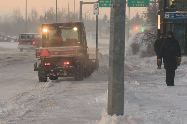 Frostbite, hypothermia both concerns as extreme cold snap continues in Edmonton