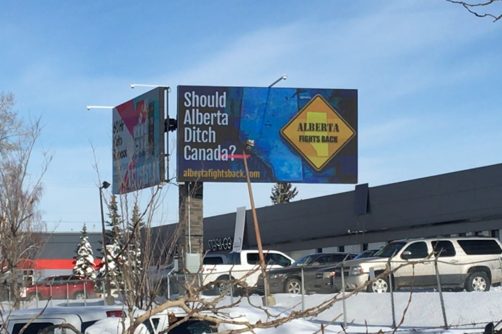 Should Alberta 'ditch' Canada? Billboard campaign poses bold question