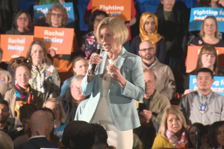 Rachel Notley declares candidacy for Edmonton-Strathcona, takes aim at Jason Kenney