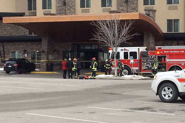 West Kelowna hotel evacuated, several people treated for chemical exposure