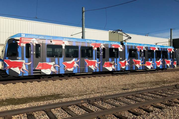 Edmonton's latest work of public art coming to a train station near you