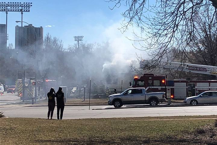 Edmonton fire crews called to blaze in downtown home