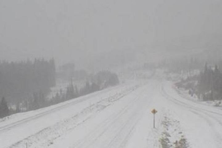 Late-season snowfall sweeping across B.C. mountain passes