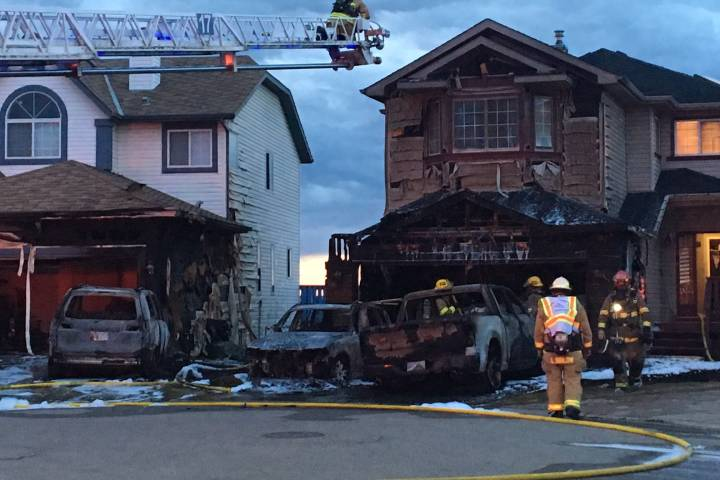 Calgary Fire Department responding to three house fires in Arbour Lake
