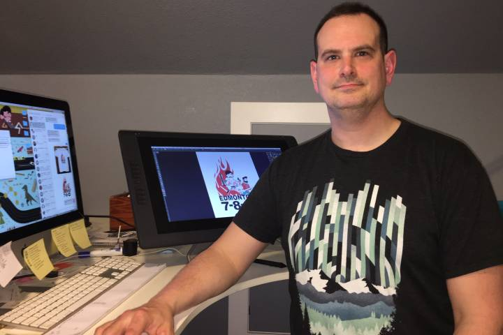 'Hawaiian Shirt Guy, 2×4 Guy' featured on Whyte Avenue arson tribute t-shirt