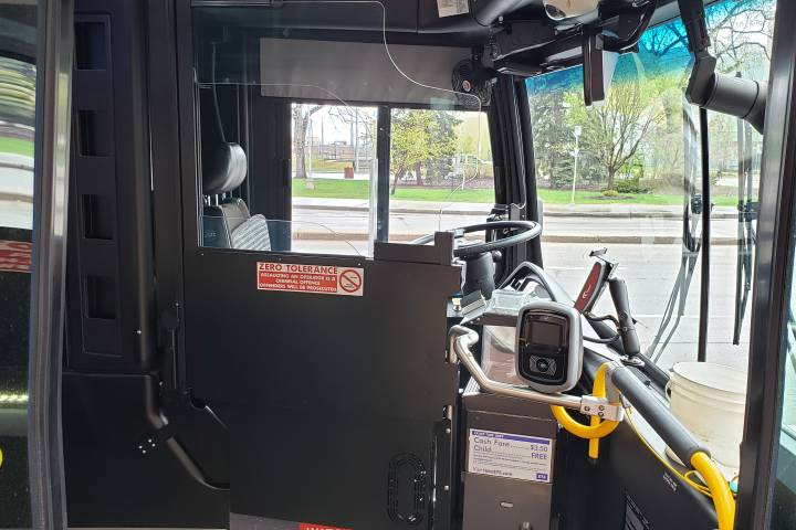 New driver safety shields installed in 4 Edmonton buses