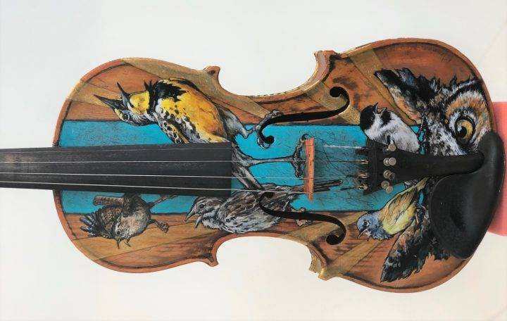 'One-of-a-kind' violins, cello repurposed as art for Lethbridge youth music program fundraiser