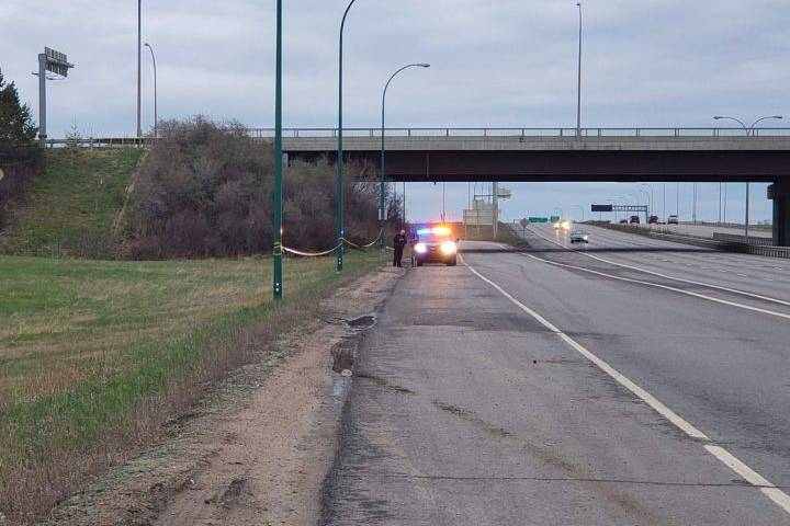 Police scene sees large area taped off near northwestern edge of Edmonton