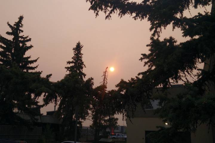 Special air quality statements issued in Edmonton, much of Alberta due to wildfire smoke