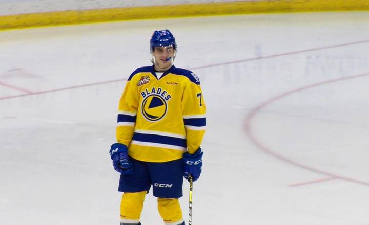 Chicago Blackhawks select Saskatoon Blades centre Kirby Dach 3rd overall at NHL Entry Draft