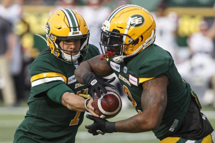 Edmonton Eskimos Trevor Harris and C.J. Gable among CFL players of the week