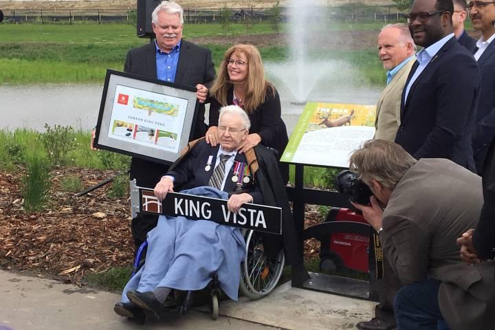 Edmonton pond named after WW2 veteran who was prisoner of war