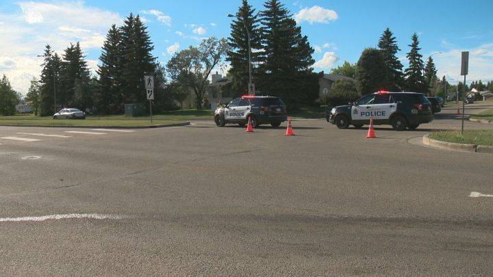 Police respond after vehicle hits pedestrian in south Edmonton