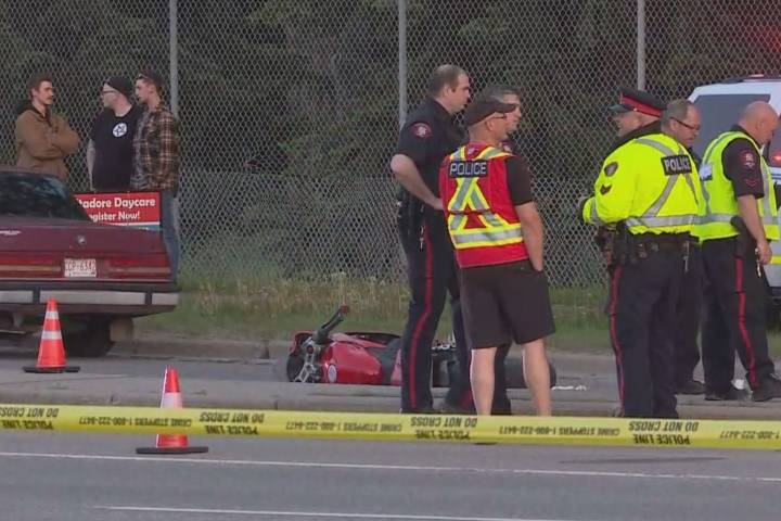 Speed a factor in motorcycle crash on Crowchild Trail that injured man: Calgary police