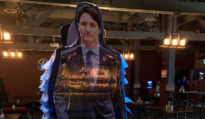 Alberta bar owner doesn't regret stringing up Trudeau pinata