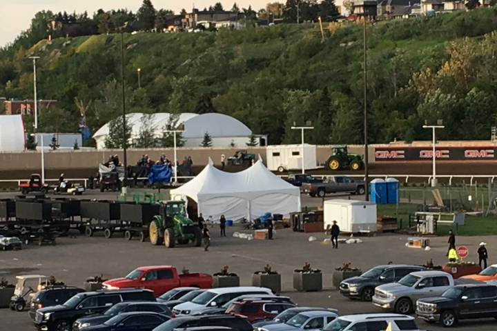 Another incident at Calgary Stampede's chuckwagon races Sunday