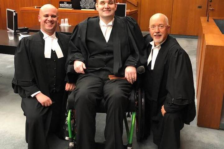 'You serve as a role model and inspiration for all of us': Alberta judge on blind, paralyzed lawyer