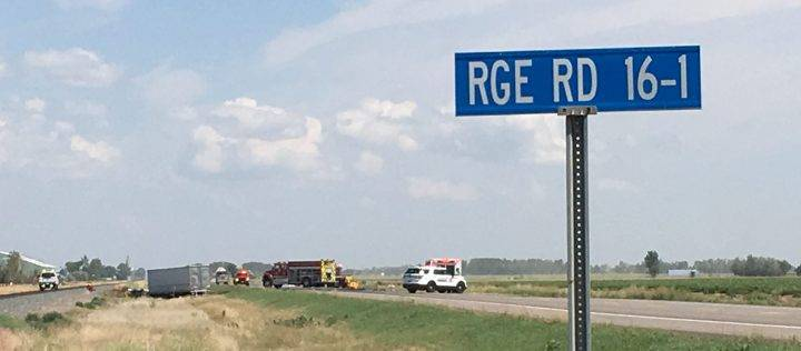 2 dead, 1 injured after fiery collision between car and semi near Taber