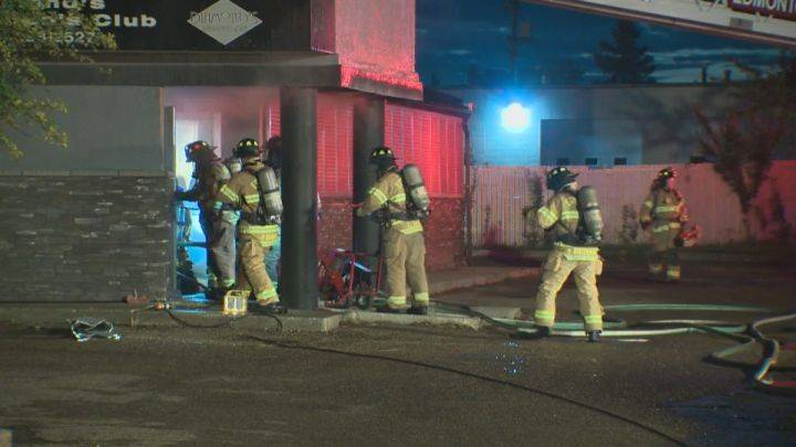 Fire breaks out at strip bar in south Edmonton