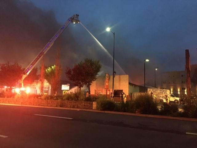 Former meat shop goes up in flames on Fort Road in northeast Edmonton