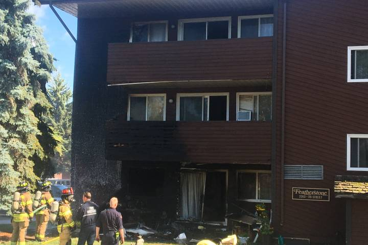 3 people taken to hospital after Edmonton apartment fire