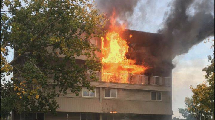 Several residents displaced after fire breaks out in Mill Woods apartment building