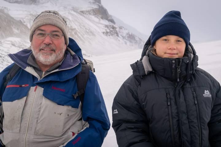 Climate change activist Greta Thunberg visits Athabasca Glacier on way to Vancouver