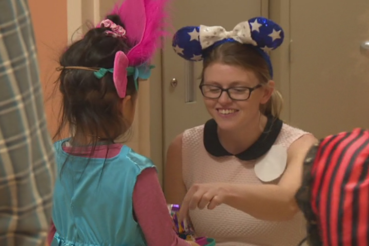 Edmonton kids with autism practise for Halloween