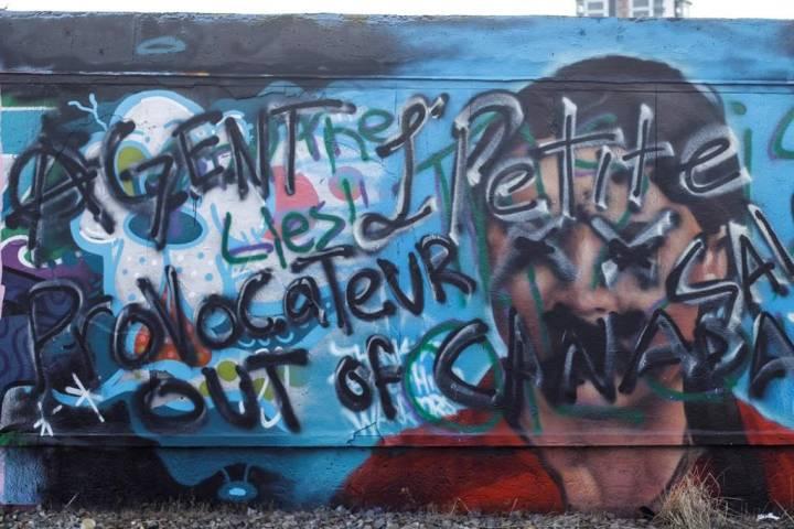 Man who defaced Thunberg mural in Edmonton says he wasn't 'taking shots at Greta'