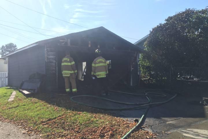 Northwest Edmonton home, garage damaged by fire